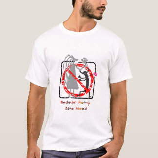 Zona de la despedida de soltero a continuación camiseta