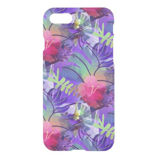 Zonas tropicales púrpuras funda para iPhone 7
