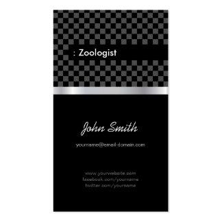 Zoologista - a cuadros negro elegante plantilla de tarjeta personal