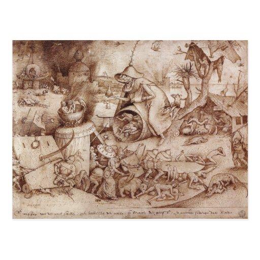 Zorn (cólera) por Pieter Bruegel la anciano Tarjeta Postal