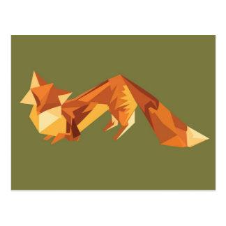 Zorro de Origami Tarjetas Postales