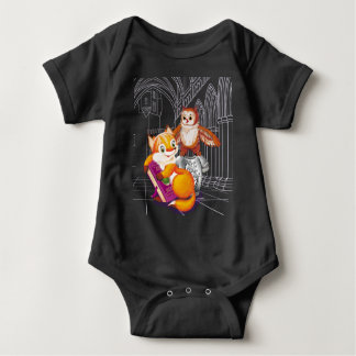 zorro y búho body para bebé