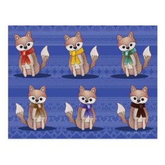 Zorros en postales de las bufandas