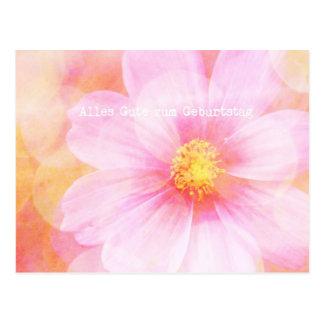 Zum en colores pastel Geburtstag de Alles Gutes de Postales