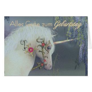 Zum Geburtstag - feliz cumpleaños alemán de Alles Tarjeta De Felicitación