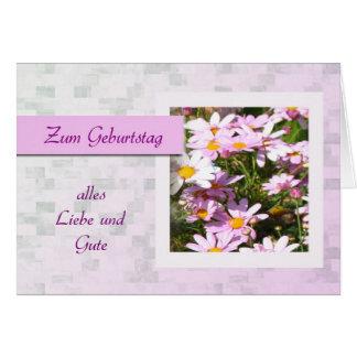 Zum Geburtstag - feliz cumpleaños en alemán, marga Tarjetas