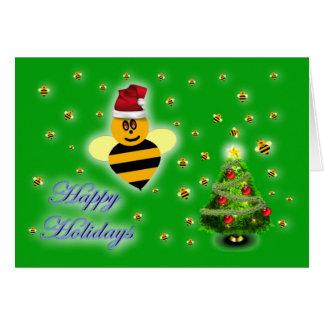 Zumbido del colmenar de la abeja de la miel de la tarjeta de felicitación