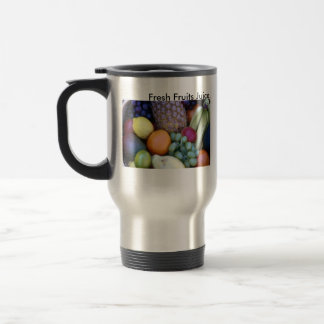 Zumo de frutas frescas, tazas del zumo de frutas f