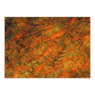 Zumo de naranja debajo del microscopio invitación 12,7 x 17,8 cm