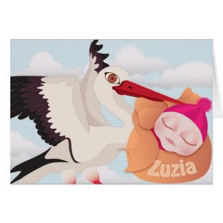 Zuzia - nueva tarjeta del bebé