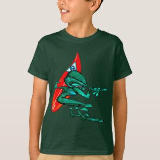 Zyr de alinea a personas que practica surf de la camiseta